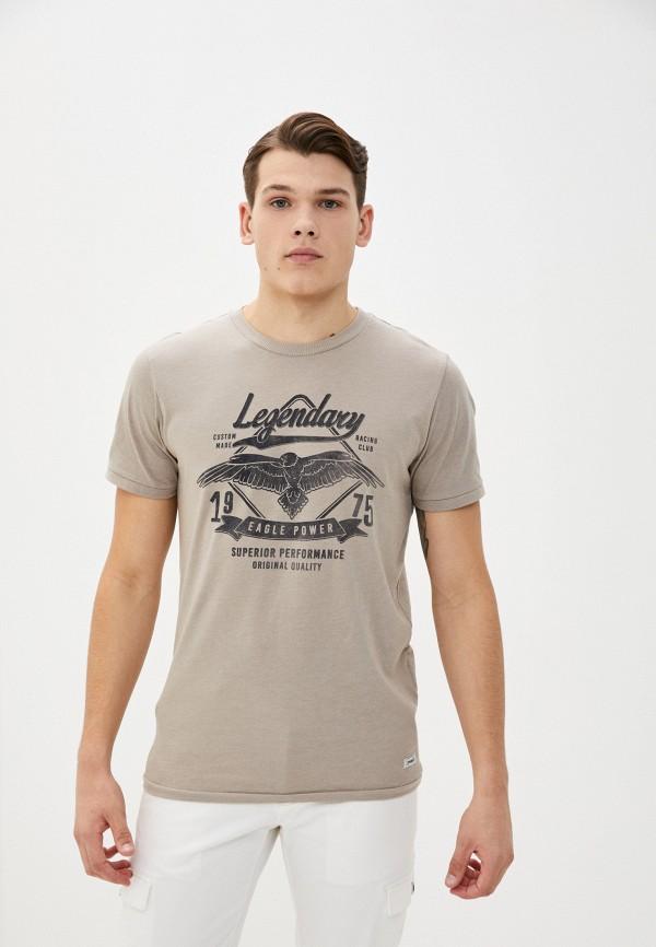 мужская футболка с коротким рукавом produkt, бежевая