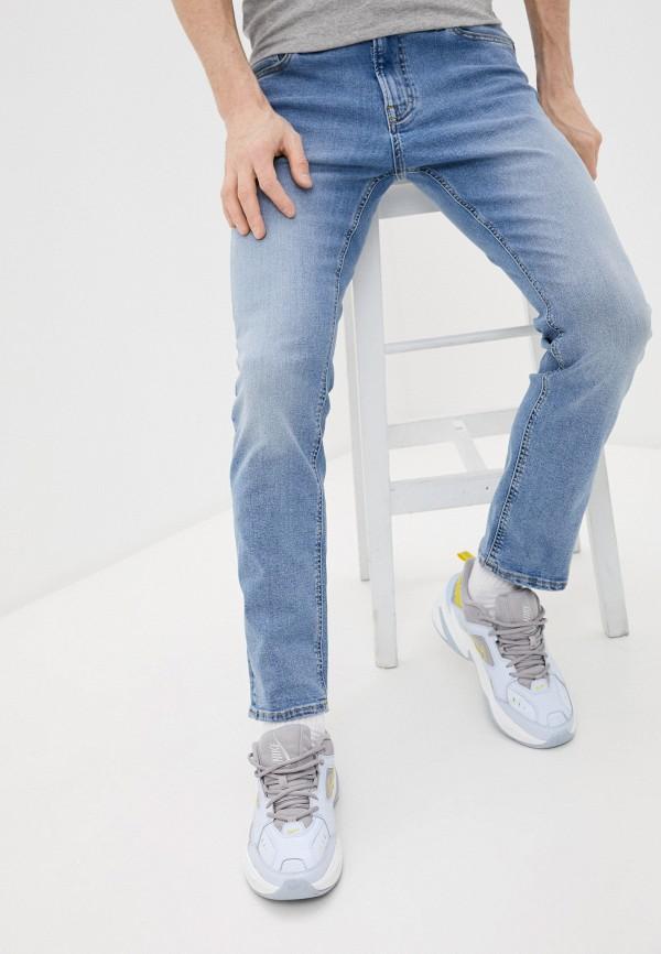 мужские зауженные джинсы produkt, голубые