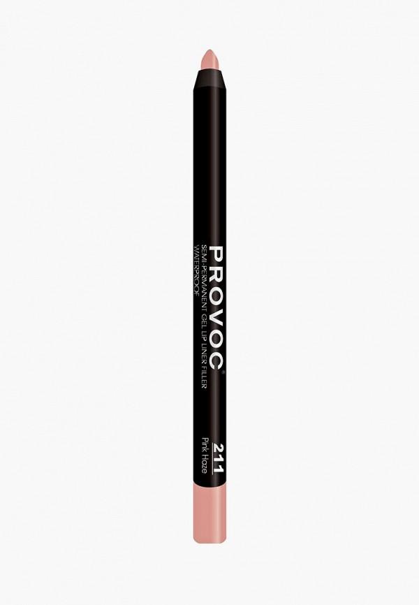 карандаш для губ provoc, розовый
