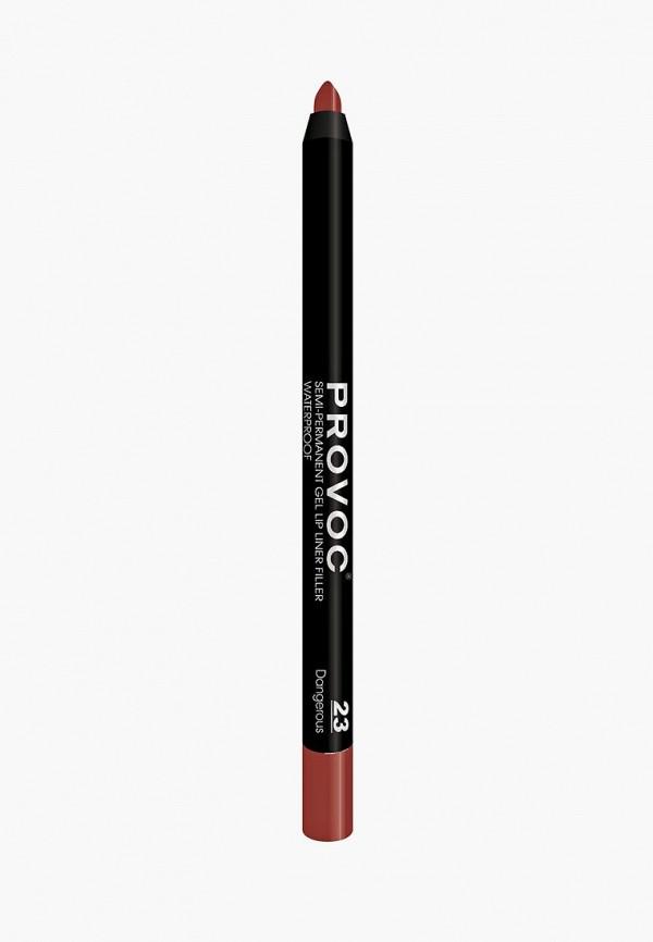 карандаш для губ provoc, бордовый