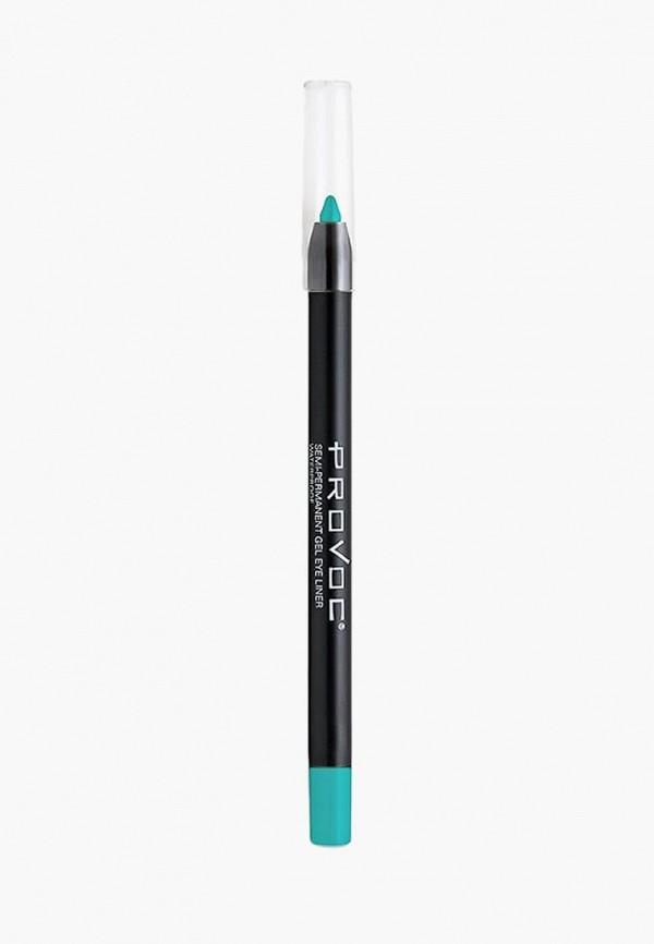 карандаш для глаз provoc, бирюзовый