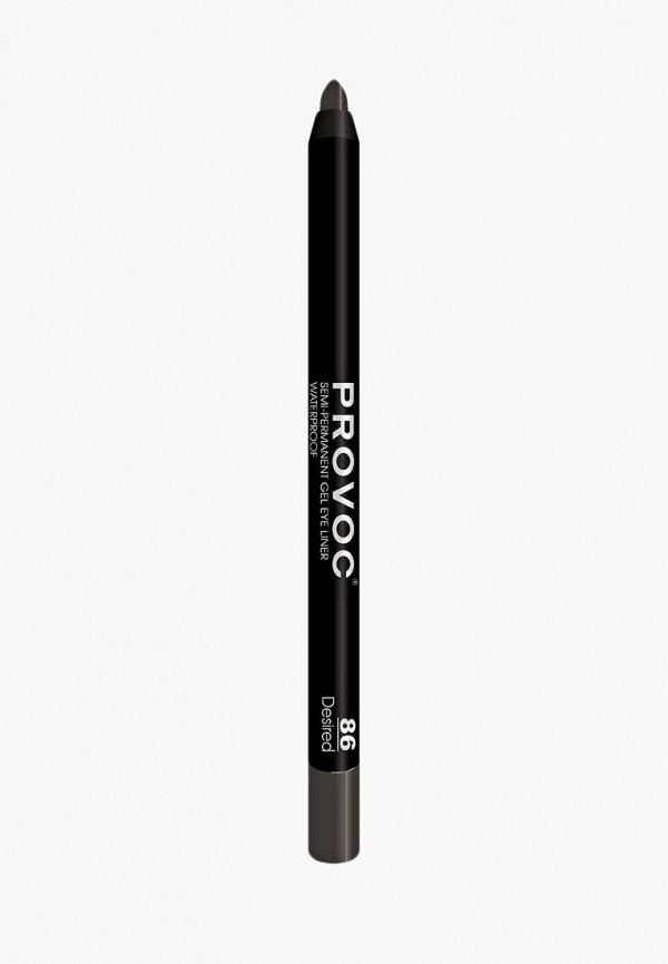 карандаш для глаз provoc, коричневый