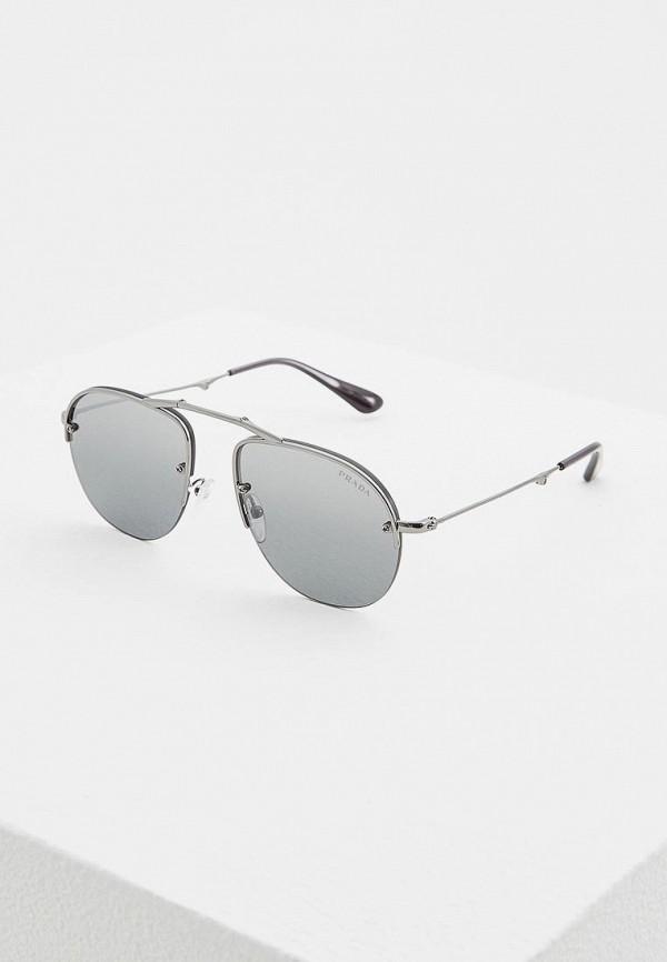 мужские солнцезащитные очки prada, черные