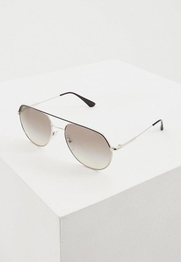 мужские авиаторы солнцезащитные очки prada, серые