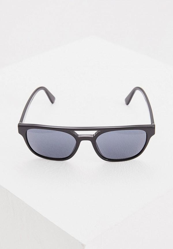 Фото 2 - Очки солнцезащитные Prada черного цвета
