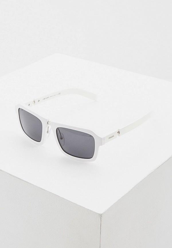 мужские солнцезащитные очки prada, белые