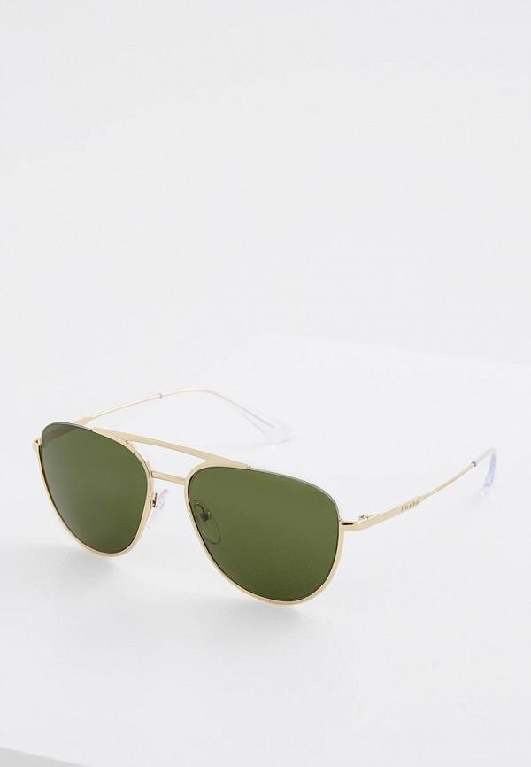 мужские солнцезащитные очки prada, золотые