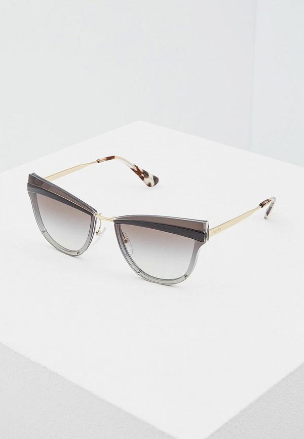 Очки солнцезащитные Prada Prada PR040DWATBE3 prada коричневые босоножки с бахромой