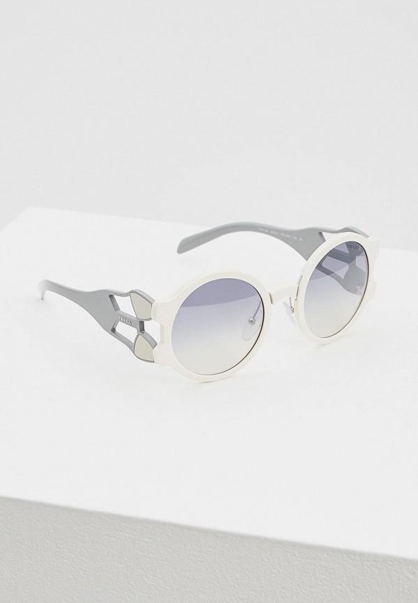 женские солнцезащитные очки prada, белые