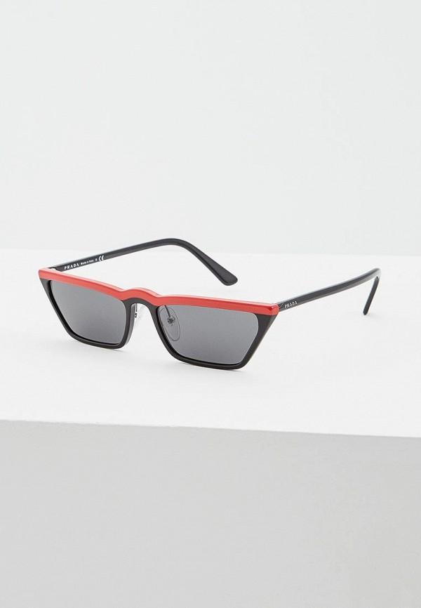 женские солнцезащитные очки prada, красные