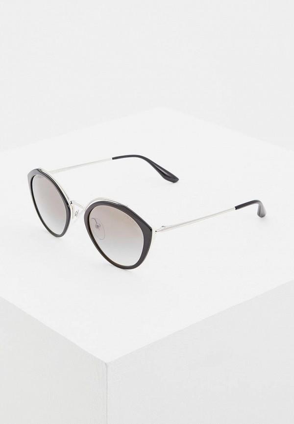 женские солнцезащитные очки prada, черные