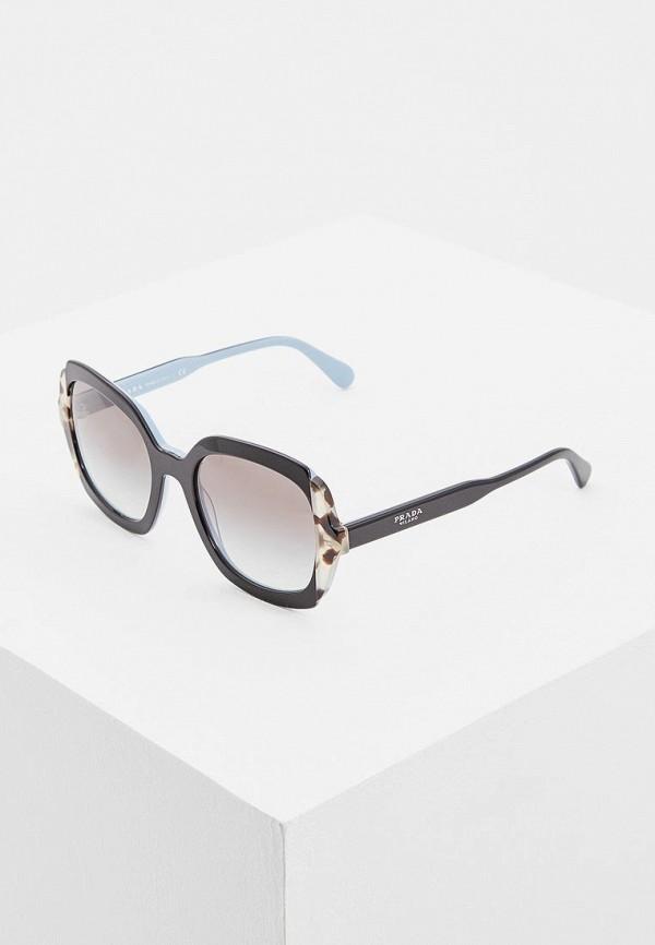 Очки солнцезащитные Prada Prada PR040DWBZNO3 prada короткий синий джемпер с отделкой