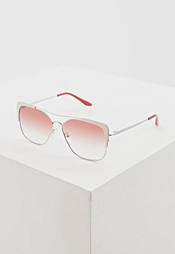 женские солнцезащитные очки prada, розовые