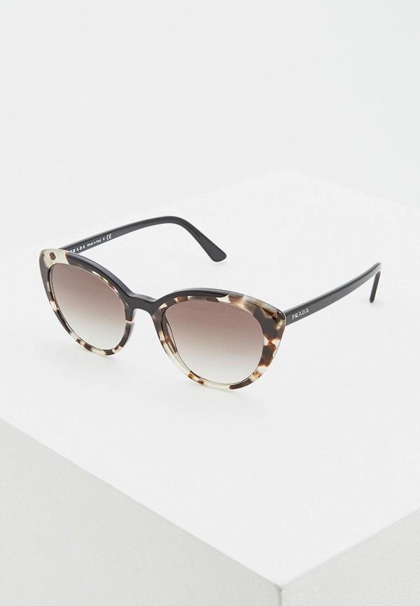 женские солнцезащитные очки кошачьи глаза prada, разноцветные