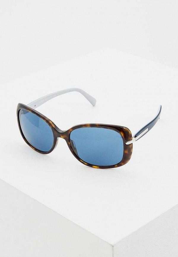 женские солнцезащитные очки prada, синие