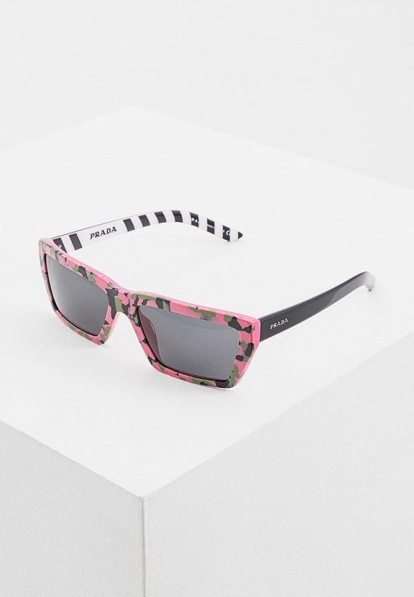 Очки солнцезащитные Prada Prada PR040DWENBX3 prada розовый клатч на цепочке
