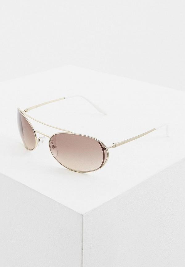 женские солнцезащитные очки prada, золотые
