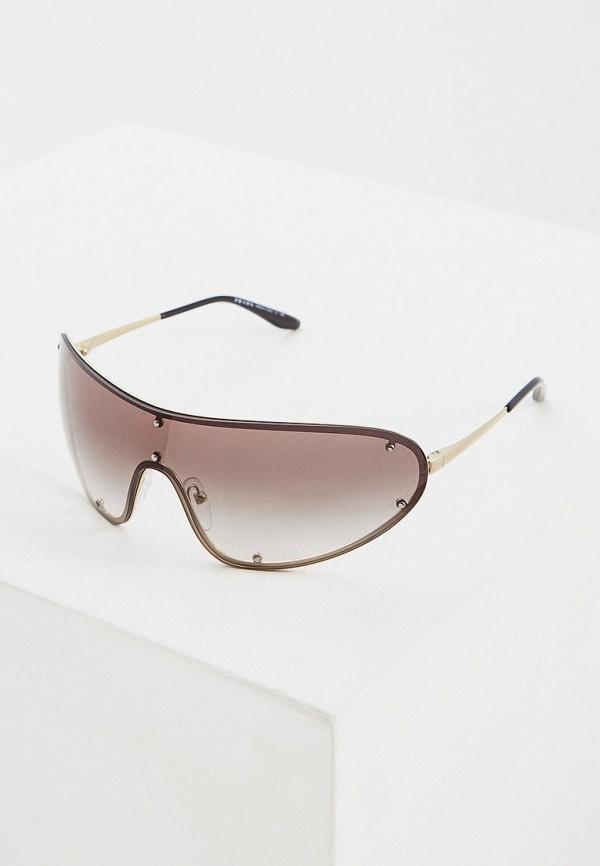 Фото - Очки солнцезащитные Prada золотого цвета