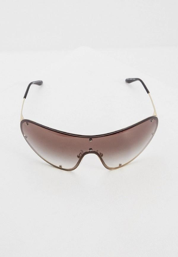 Фото 2 - Очки солнцезащитные Prada золотого цвета