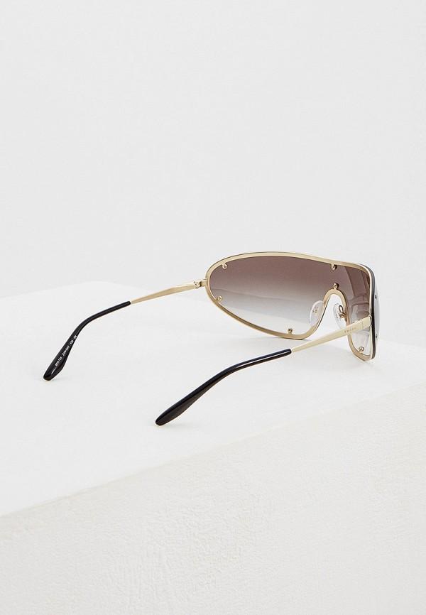 Фото 3 - Очки солнцезащитные Prada золотого цвета