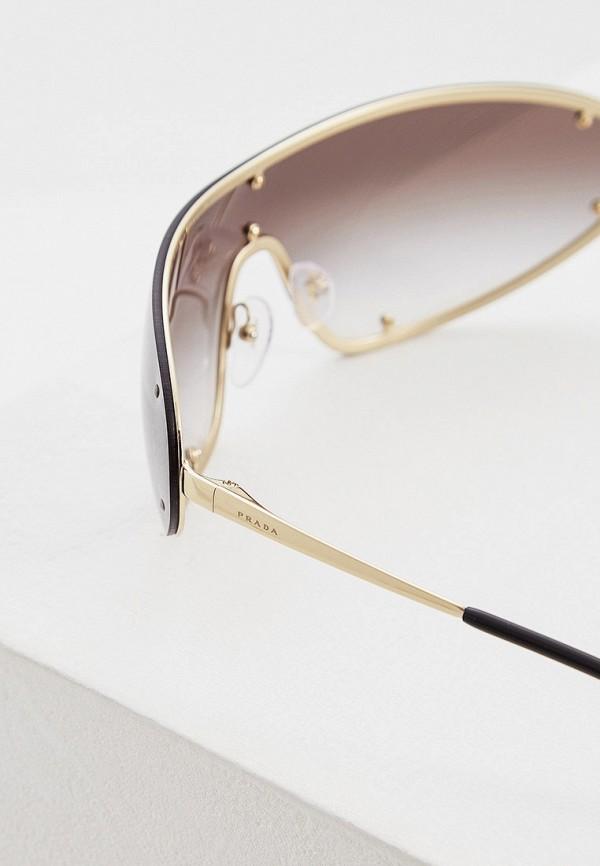Фото 4 - Очки солнцезащитные Prada золотого цвета