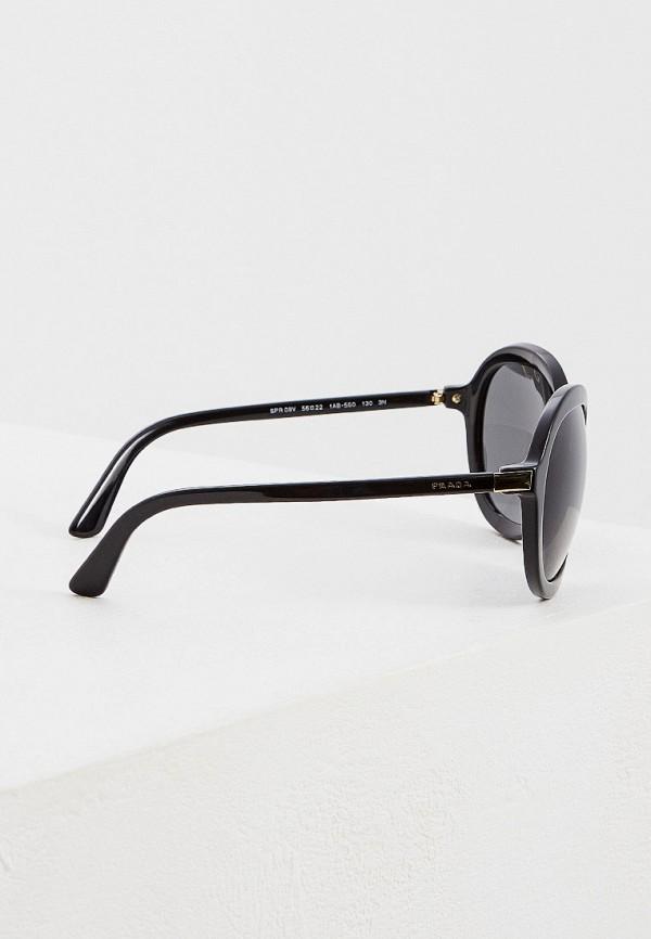 Фото 3 - Очки солнцезащитные Prada черного цвета