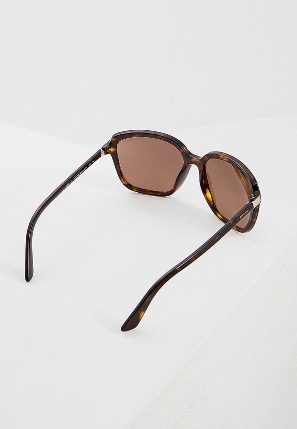 Фото 3 - Очки солнцезащитные Prada коричневого цвета
