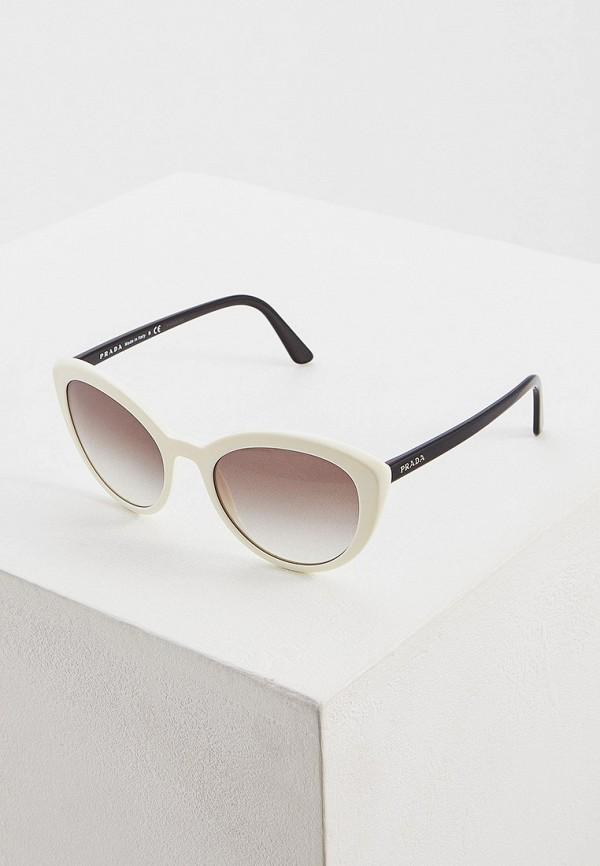 Фото - Очки солнцезащитные Prada белого цвета