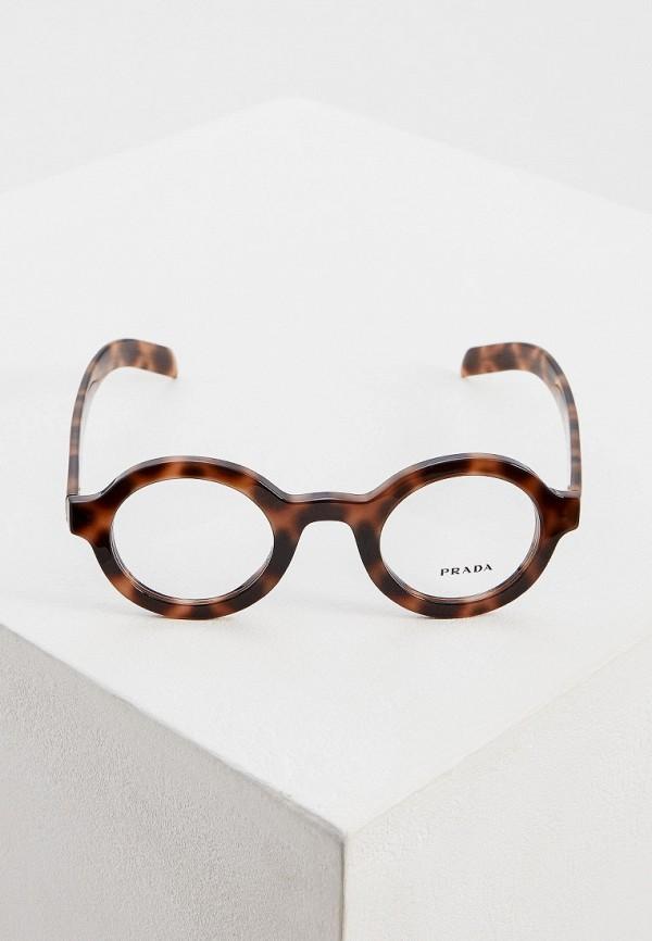 Фото 2 - Оправа Prada коричневого цвета