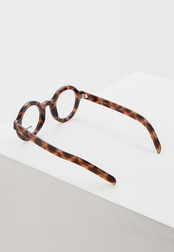 Фото 3 - Оправа Prada коричневого цвета