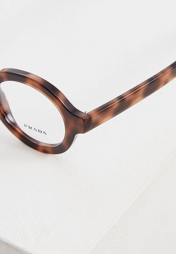 Фото 4 - Оправа Prada коричневого цвета