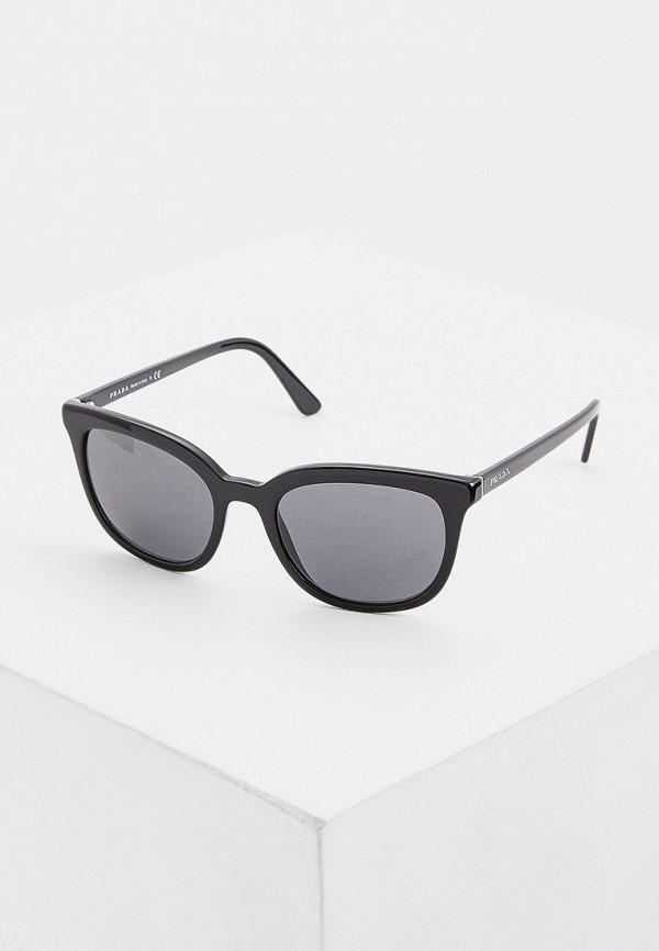 женские солнцезащитные очки кошачьи глаза prada, черные