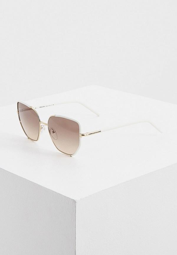 женские солнцезащитные очки кошачьи глаза prada, золотые