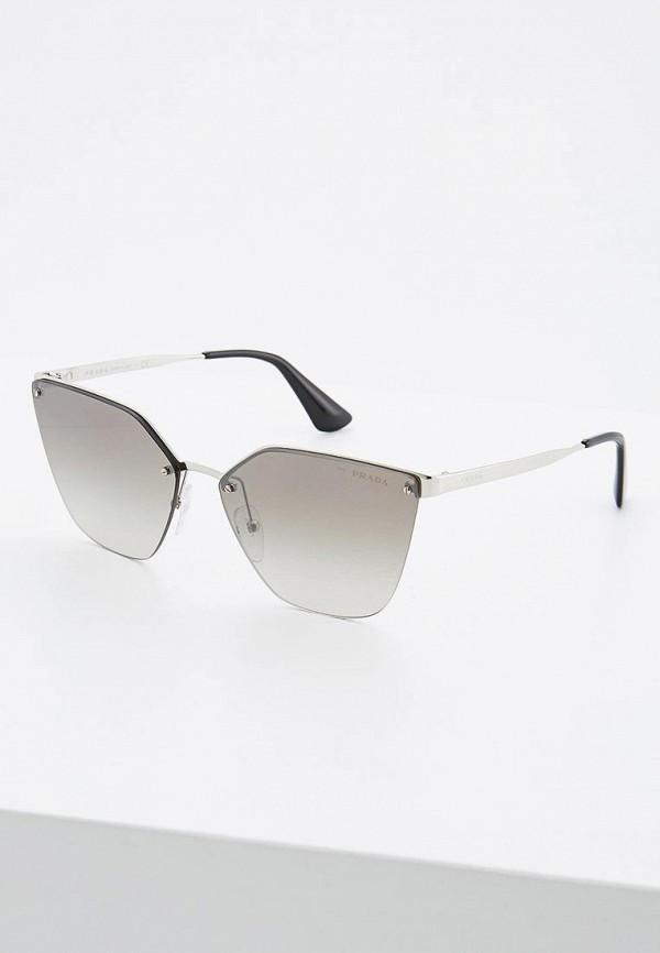 Купить Очки солнцезащитные Prada серебрянного цвета