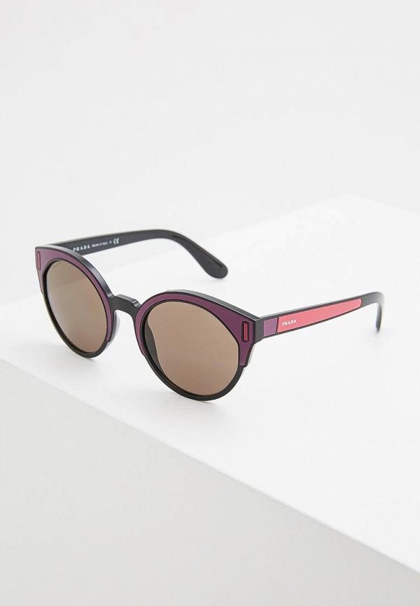 женские солнцезащитные очки prada, фиолетовые