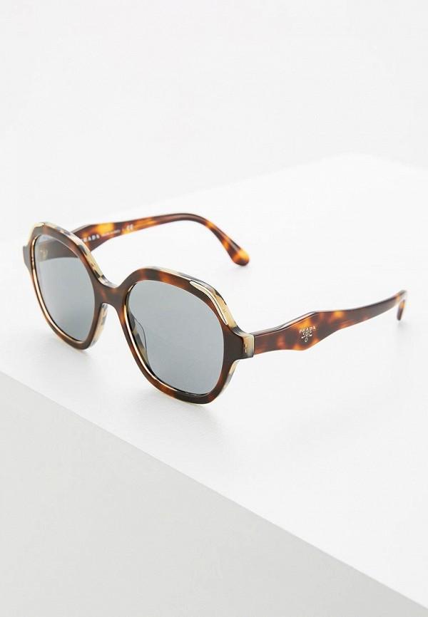 женские солнцезащитные очки prada, коричневые
