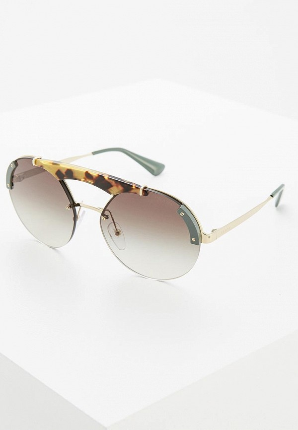 Очки солнцезащитные Prada Prada PR040DWZBW41 prada серый кашемировый джемпер