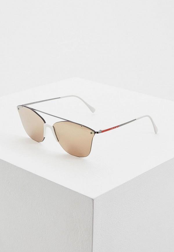 мужские солнцезащитные очки prada linea rossa, белые