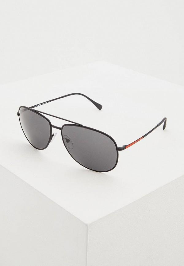 Купить Очки солнцезащитные Prada Linea Rossa черного цвета