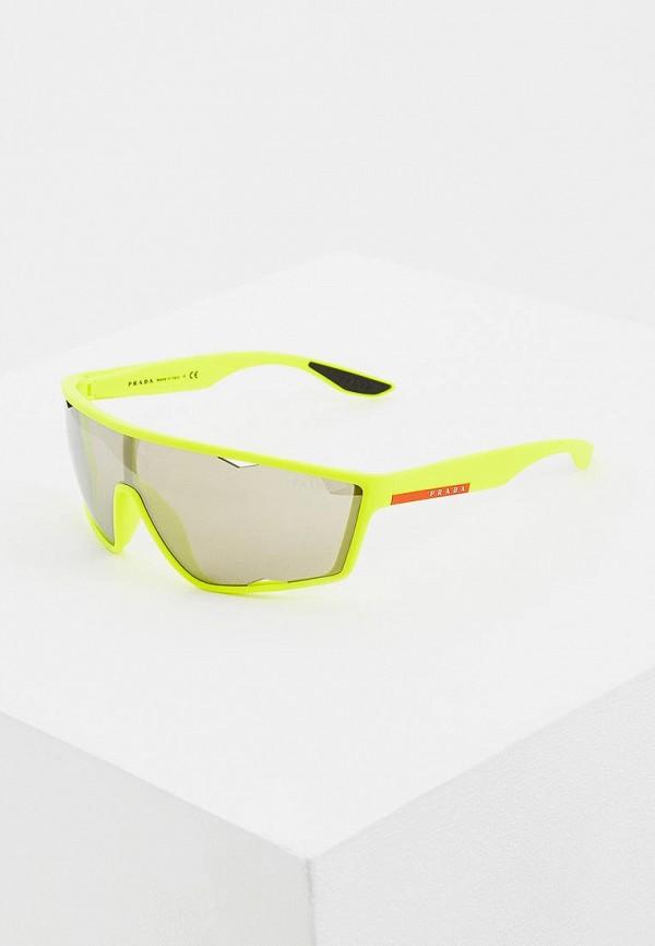 мужские солнцезащитные очки prada linea rossa, желтые