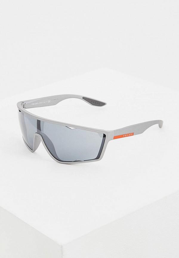 мужские солнцезащитные очки prada linea rossa, серые