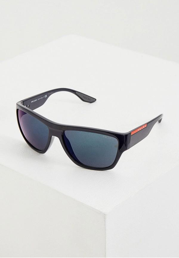 мужские солнцезащитные очки prada linea rossa, синие