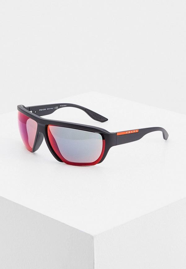 мужские солнцезащитные очки prada linea rossa, черные