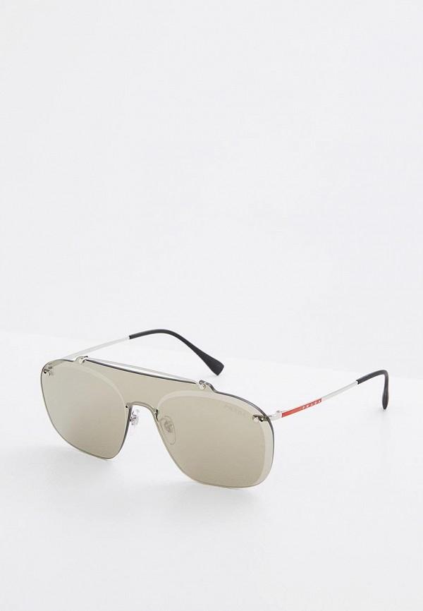 Очки солнцезащитные Prada Linea Rossa Prada Linea Rossa PR044DMZBB00 брюки prada linea rossa