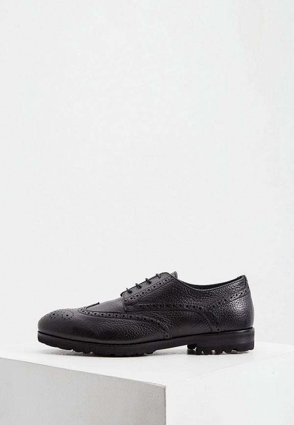 мужские туфли-дерби principe di bologna, черные