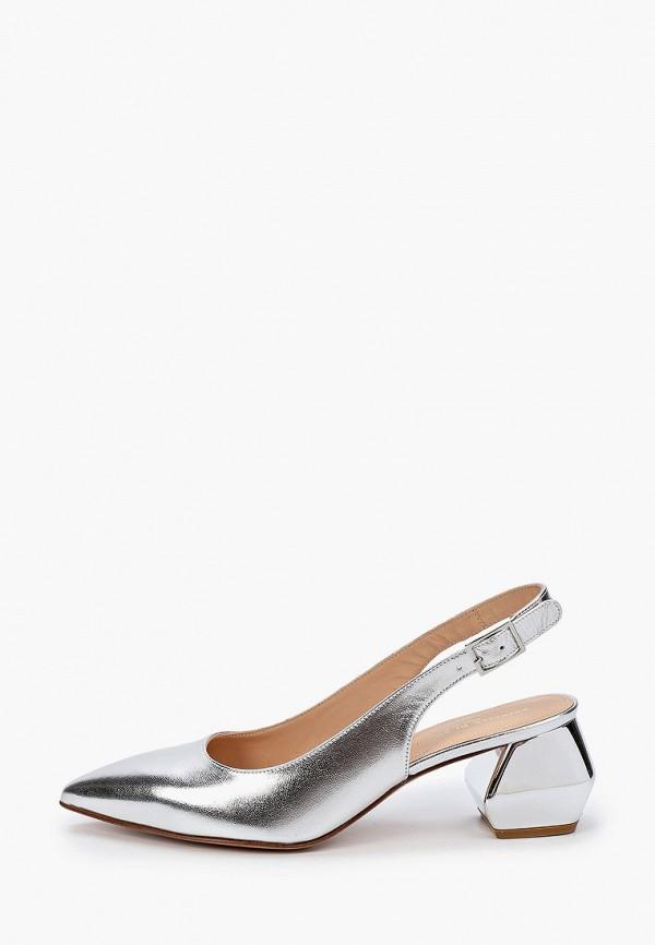 женские туфли principe di bologna, серебряные
