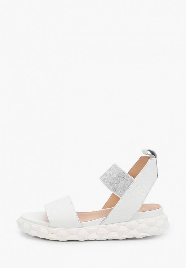 женские сандалии principe di bologna, белые