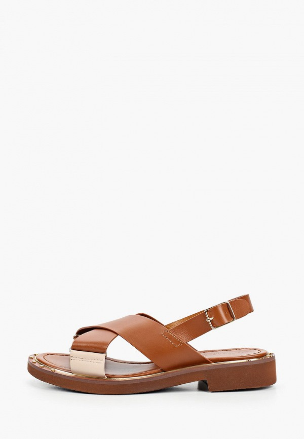 женские сандалии principe di bologna, коричневые