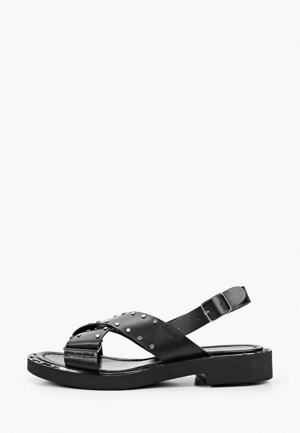 женские сандалии principe di bologna, черные
