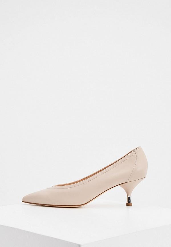 женские туфли principe di bologna, бежевые